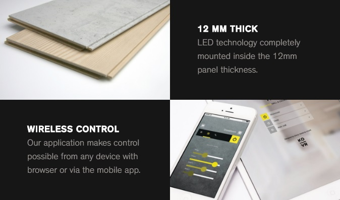 Hyde Architectural Lighting system - control and thickness