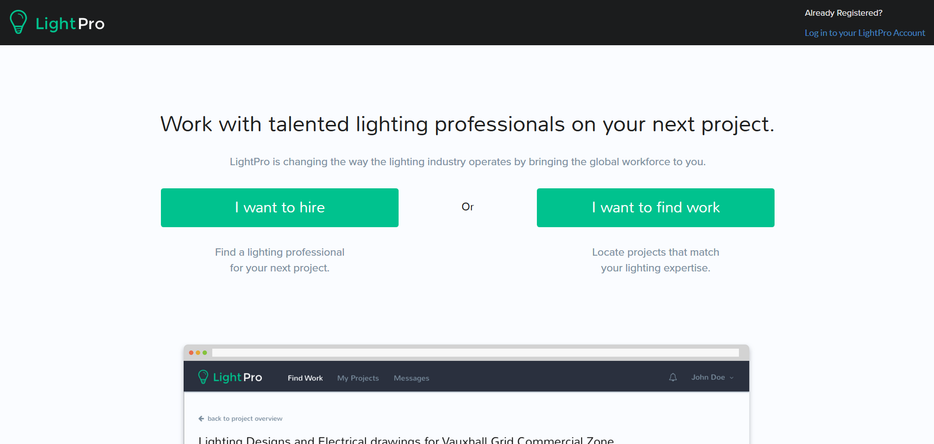 LightPro - matchmaker for lighting professionals