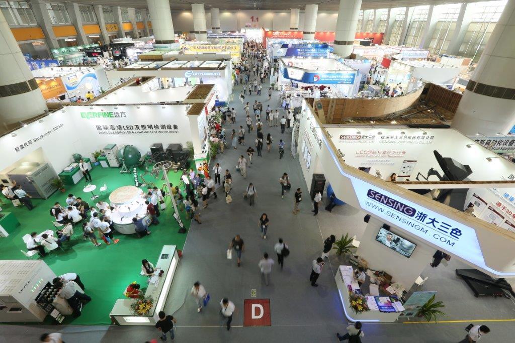 Show overview birds eye Guangzhou International Lighting Exhibition