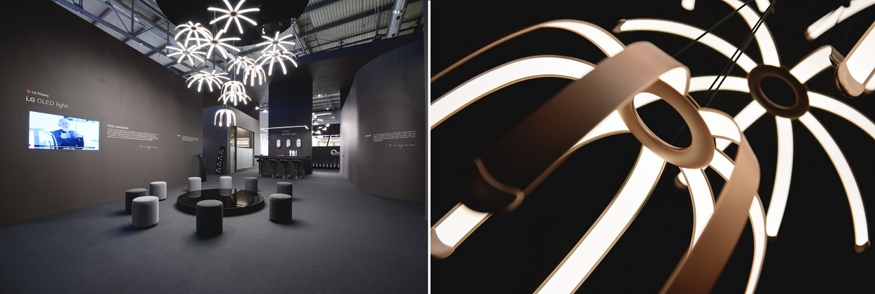 Image of LG OLED booth at Euroluce 2019