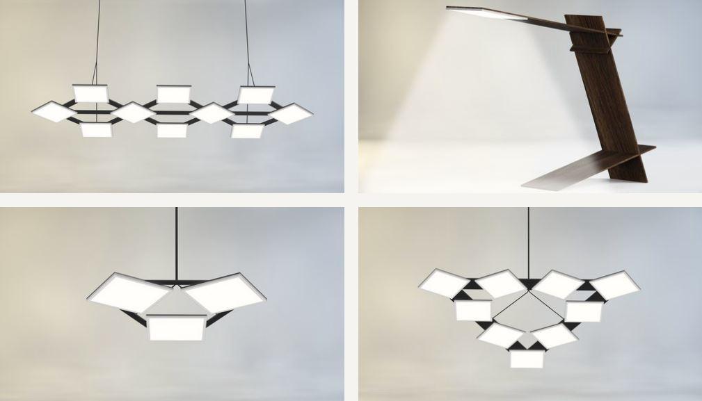 Image of futuristic lighting luminaires as created by Hikari SQ