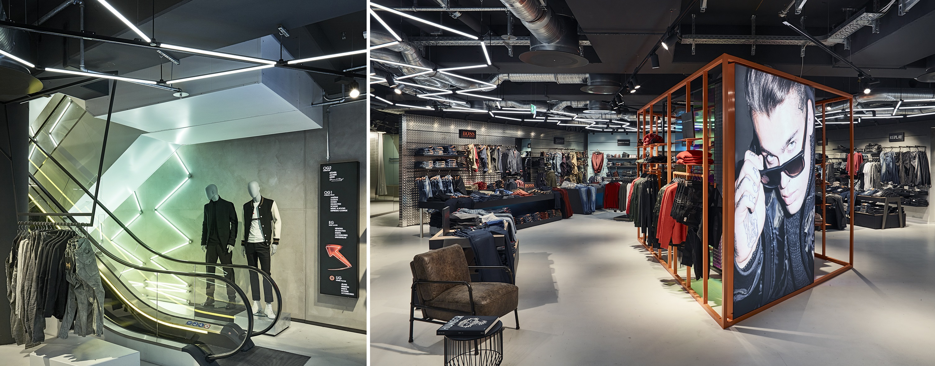 Picture of Ligeo light system applied in a retail situation