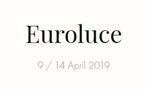 Logo for Euroluce 2019 Fiera Milano