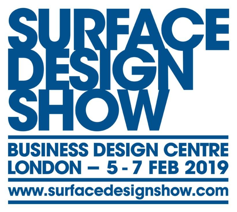 Logo of Surface Design Show 2019 for use on the Lighting-Inspiration.com blog