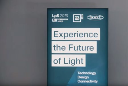 Image for use in blogpost on Lighting-Inspiration.com about LPS-TIL 2019 aftermovie showing Experience the Future of Light Banner