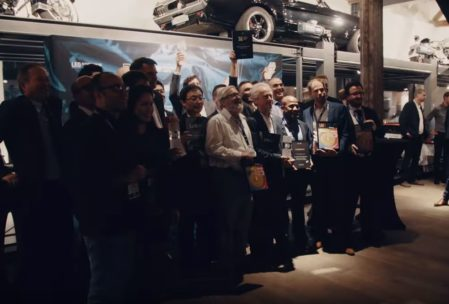 Image for use in blogpost aboutblogpost about LPS-TIL 2019 aftermovie showing Award winners during ceremony in Lindau